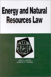 Cover of: Energy and natural resources law in a nutshell