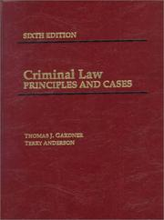 Cover of: Criminal law | Thomas J. Gardner