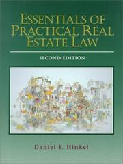 Cover of: Essentials of Real Estate Law