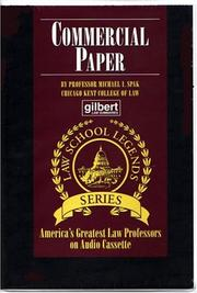 Cover of: Commercial Paper | Michael I. Spak