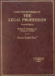 Cover of: Cases and materials on the legal profession