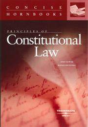 Cover of: Principles of constitutional law