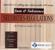 Securities Regulations CDs (Sum and Substance)