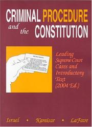 Cover of: Criminal Procedure And The Constitution | Jerold H. Israel