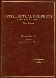 Cover of: Cases and Materials on Intellectual Property,