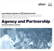 Cover of: Law School Legends Agency and Partnership