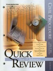Cover of: Quick Review on Civil Procedure, Sixth Edition (Quick Review Series) | Jack H. Friedenthal