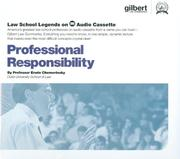 Cover of: Professional Responsibility