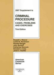 Cover of: Criminal Procedure | Russell L. Weaver