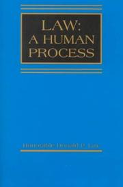 Cover of: Law, a human process