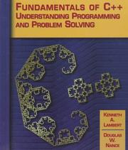 Cover of: Fundamentals of C++