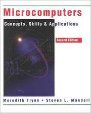 Cover of: MicroComputers, Concepts, Skills, and Applications, Second Edition | Meredith Flynn
