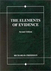 Cover of: Friedman's The Elements of Evidence, 2d