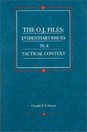 Cover of: The O.J. files | Gerald F. Uelmen
