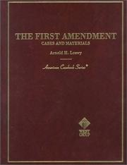 Cover of: The First amendment
