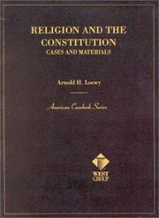 Cover of: Religion and the Constitution