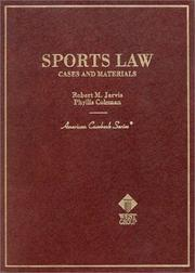 Cover of: Sports Law | Robert M. Jarvis