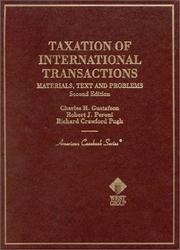 Cover of: Taxation of international transactions