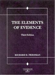 Cover of: The elements of evidence
