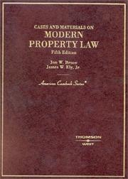 Cover of: Cases and materials on modern property law