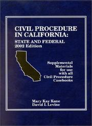 Cover of: Civil Procedure in California | Mary Kay Kane