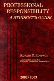 Cover of: Rotunda's Professional Responsibility