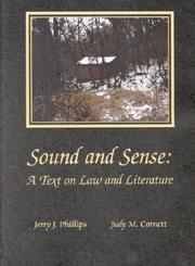 Cover of: Sound and sense |