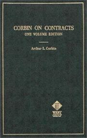 Corbin on contracts by Arthur L. Corbin