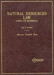 Cover of: Natural resources law
