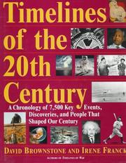 Cover of: Timelines of the 20th century | David M. Brownstone