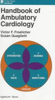 Cover of: Handbook of ambulatory cardiology