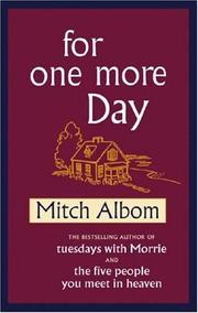 Cover of: For One More Day (SIGNED)