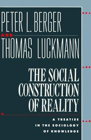 Cover of: The social construction of reality