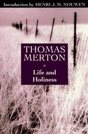 Cover of: Life and holiness