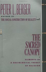 Cover of: The sacred canopy