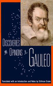 Cover of: Discoveries and opinions of Galileo