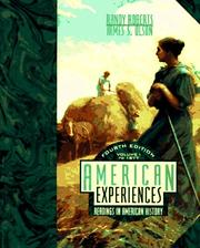 Cover of: American Experiences: Readings in American History, Vol. 1