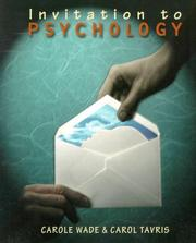 Cover of: Invitation to psychology