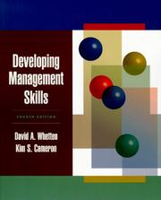 Cover of: Developing management skills | David A. Whetten
