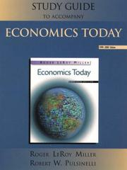 Cover of: Study Guide to Accompany Economics Today