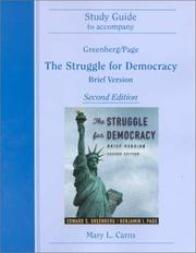 Cover of: Struggle for Democracy | Mary L. Carns
