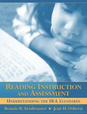 Cover of: Reading Instruction and Assessment | Bonnie B. Armbruster