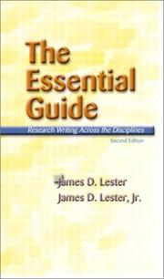Cover of: The Essential Guide | James D. Lester