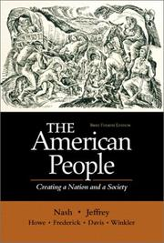 Cover of: The American People, Brief - Single Volume Edition | Gary B. Nash