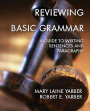 Cover of: Reviewing Basic Grammar | Mary Laine Yarber