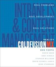Cover of: Reality Macromedia ColdFusion MX |
