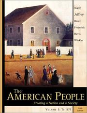 Cover of: The American People, Vol. 1, Chapters 1-16 | Gary B. Nash