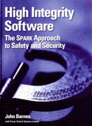 Cover of: High Integrity Software