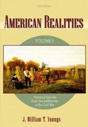 Cover of: American Realities, Vol. 1