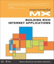 Cover of: Macromedia MX: building rich Internet applications